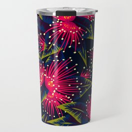 New Zealand Rata floral print (Night) Travel Mug