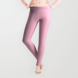 Hibiscus Solid Pink Bloom Accent Leggings