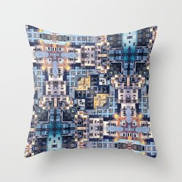 Community of Cubicles Throw Pillow