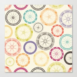 bike wheels Canvas Print