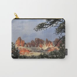 Red Rocks and Snow Carry-All Pouch