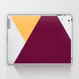 Triangle Grunge - Yellow/Maroon Laptop & iPad Skin