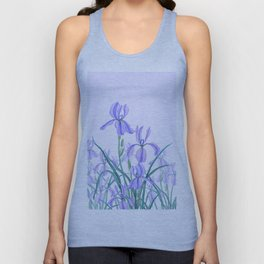 purple iris watercolor Unisex Tank Top