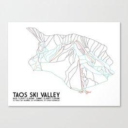 Taos Ski Valley, NM - Minimalist Trail Map Canvas Print