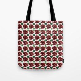 Garnets and fractal hearts Tote Bag