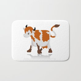 Cartoon cow Bath Mat