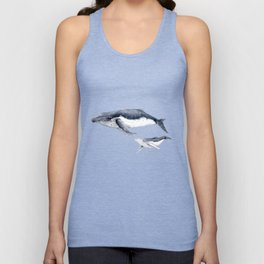 Humpback whale with calf Unisex Tank Top