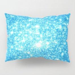 Sky Blue Sparkle Stars Pillow Sham