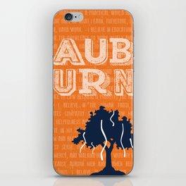 Auburn Creed iPhone Skin