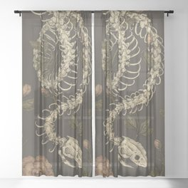 Snake Skeleton Sheer Curtain