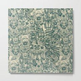 gargoyles teal Metal Print