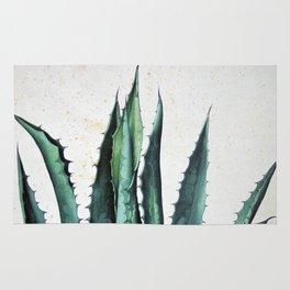 Vintage succulent agave aloe cactus antique desert botanical print boho tribal chic Rug
