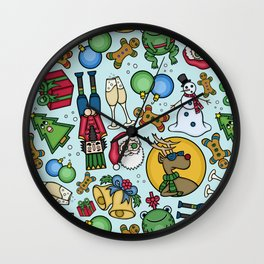 Crazy Christmas Wall Clock