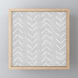 Mudcloth Big Arrows in Grey Framed Mini Art Print