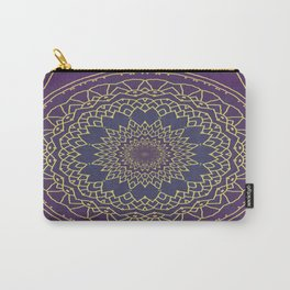 Mandala - purple and gold Carry-All Pouch