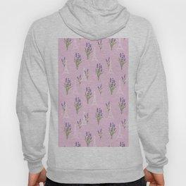 Elegant lavender lilac white Paris Eiffel Tower floral Hoody
