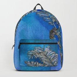 Blue Palm Backpack