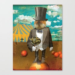 Circus-Circus :: Will Work for Food Canvas Print
