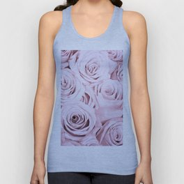 Pink Roses Flowers - Rose and flower pattern Unisex Tank Top