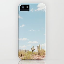 Saguaros in the Desert iPhone Case