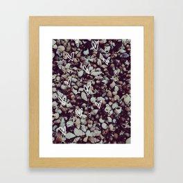 charcoal seashell pattern Framed Art Print