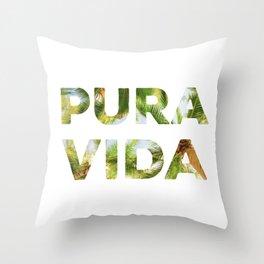 Pura Vida Costa Rica Palm Trees Throw Pillow