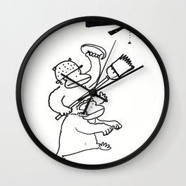Quixotic Apes Tilt at Ceiling Fan Wall Clock
