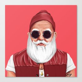 Hipstory -  Santa Claus Canvas Print