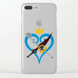Kingdom Hearts キングダム ハーツ Keyblade Sora and Riku Clear iPhone Case