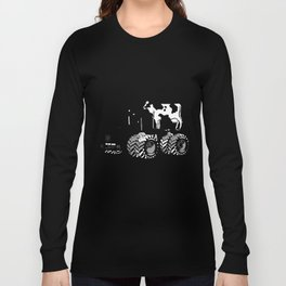 stolen tractor and cow Long Sleeve T-shirt