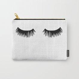 Eyelashes, Fashion, Face, Scandinavian, Minimal, Trendy decor, Wall art Art Print Carry-All Pouch