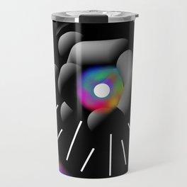 Circle and Rainbow Travel Mug
