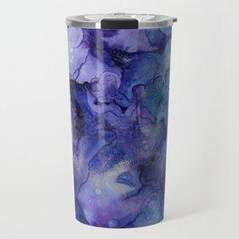 Abstract Watercolor and Ink Travel Mug