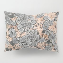 Lichen on granite = Natural abstract art Pillow Sham