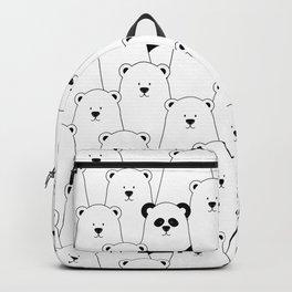 Polar bear and panda cartoon Backpack