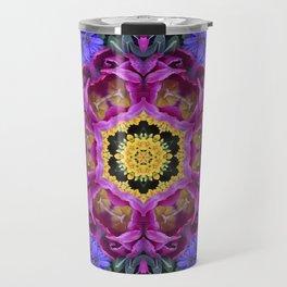 Floral finery - vivid kaleidoscope 20170321_135334 e k1 Travel Mug