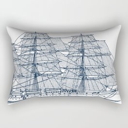 Big Sailing Ship Rectangular Pillow