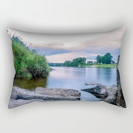 Long Exposure Photo of The River Tay in Perth Scotland Rectangular Pillow