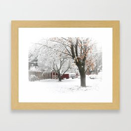 The Backyard Under Three Inches Framed Art Print
