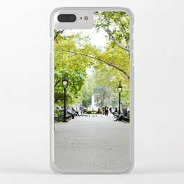 Morning Stroll in the Village Clear iPhone Case