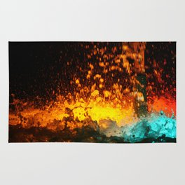 WATER FOUNTAIN LIHT REFLECTION Rug