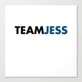 Team Jess Gilmore Girls Canvas Print