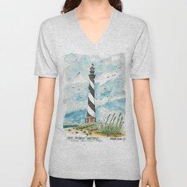 Cape Hatteras Lighthouse Unisex V-Neck