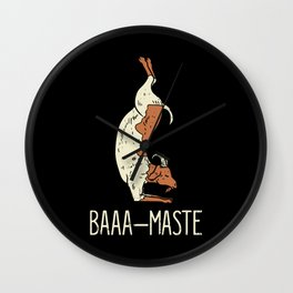 Goat Yoga Design: Baaa Maste I Namaste I Inner Peace I Yogi Wall Clock
