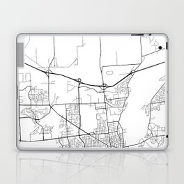 Kingston Map, Canada - Black and White Laptop & iPad Skin