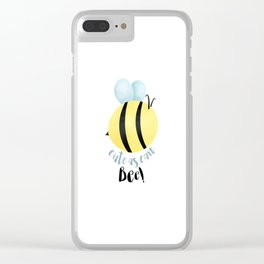 Cute As Can Bee! Clear iPhone Case