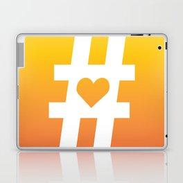 Hashtag Heart Laptop & iPad Skin