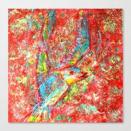 Psychedelic bird 01 Canvas Print