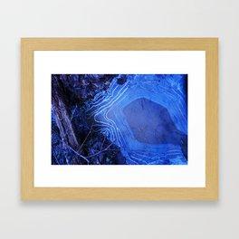 Topographic Puddles Framed Art Print