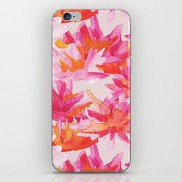 Waterlilies watercolor pattern iPhone Skin